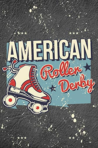 American Roller Derby: Black Marble Patriotic American Dream Blank Lined Journal Gift Idea For Roller Skaters - 120 Pages (6