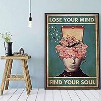 あなたの心を失いますあなたの魂を見つけてください写真家の装飾キャンバス絵画現代の印刷されたポスター壁アートリビングルーム60x80cmフレームなし