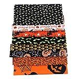 #N/A 8 Halloween Kürbis Eule Schädel Craft Baumwollstoff