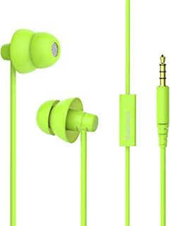MAXROCK MINi5 Comfort-fit Headphones with Mic Wired Cellphone Earbuds with 3.5mm Jack (Green)