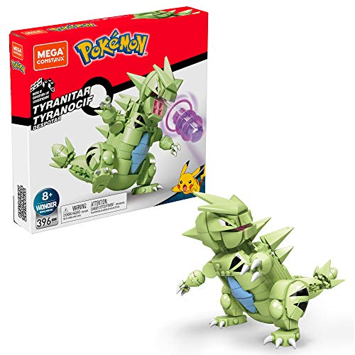 Mega Construx Pokemon Tyranitar Figure Building Set with Battle Action