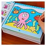 LVTONG Libros de Dibujo 8 Libros/Set Lindo Libro para Colorear para niños Niños Adultos Aliviar el estrés Matar Tiempo Pintura Pintura Dibujo Arte Libro 3-6 Libro de Dibujo