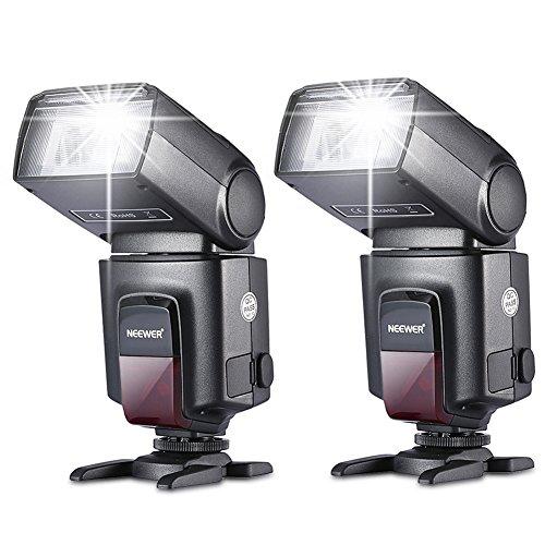 Neewer®TT560 Zwei Blitzgerät Blitz Speedlite Set für Canon Nikon Sony Olympus Panasonic Pentax Fujifilm Sigma Minolta Leica und andere SLR Digital SLR...