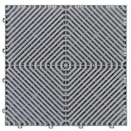 Art Plast pavimento Gris ROMBO, 39,5x39,5x1,7 cm (38,5x38,5 Neto) 1m²: 6 láminas