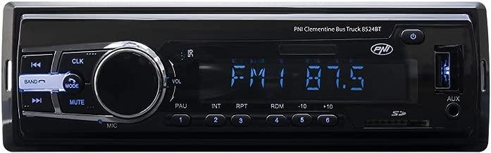 Radio Reproductor de MP3 Auto PNI Clementine Bus Camión 8524BT 4x45w 12V / 24V 1 DIN CU SD, USB, AUX, RCA si Bluetooth 24 voltios