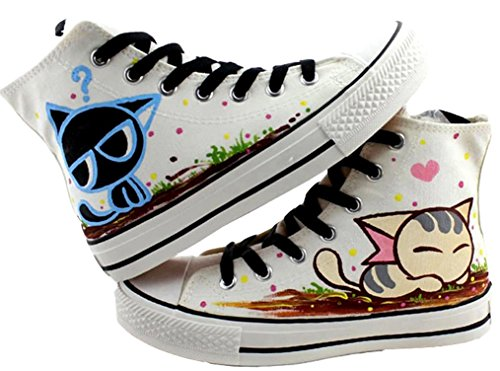 iFANS Girl and Boy Tall Canvas Sneakers Kids High-Top Canvas Boots