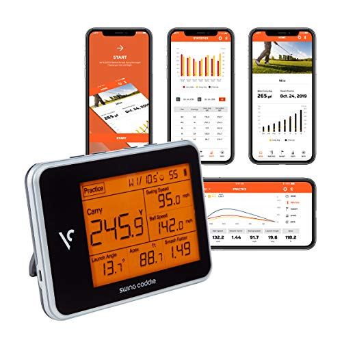 Voice Caddie Golf Swing Caddie SC300 Portable Launch Monitor , Black