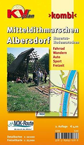 Amtskartenset Mitteldithmarschen / Albersdorf mit Umgebung und Hanerau-Hademarschen: 1:10.000 Gemeindepläne mit Freizeitkarte 1:25.000 inkl. Rad- und Wanderwegen (KVplan Schleswig-Holstein-Region)