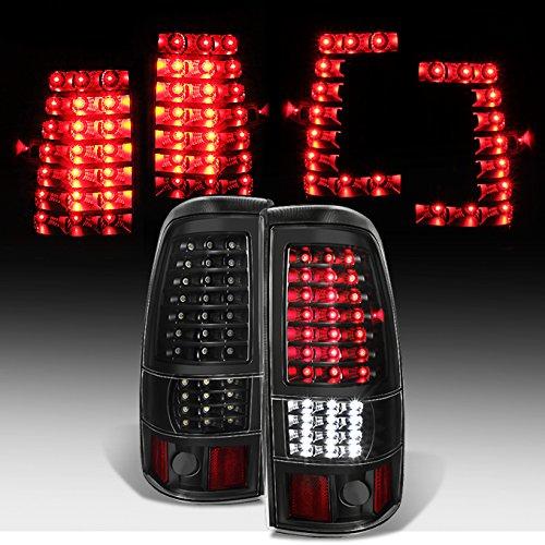 [Negro–C-Shape Full LED Estilo] 1999–2002Chevy Silverado | 1999–2003GMC Sierra…