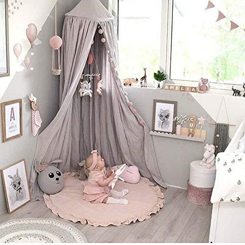Homieco Runden Teppich Süss Baby Spielmatte Kind Matte cartoon Farbe weich komfortabel PSpielmatten Baby Raumdekoration, rosa