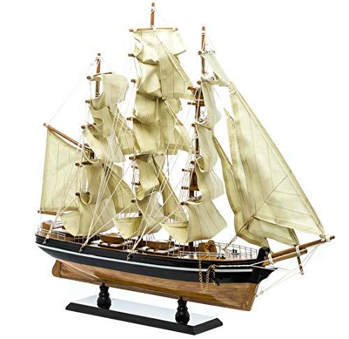 Modellschiff Cutty Sark Wollklipper Holz Schiff Segelschiff 54cm kein Bausatz