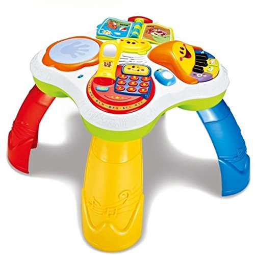 HALO NATION® Toddler's Activity Table Intellegent Activities Activity Cube Table Educational Musical Toy for Toddler Baby Kids - Multiple Activity Learning Toy for Early Development