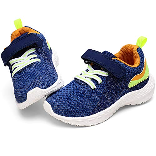 STQ Toddler Boy Shoes, Lightweight Running Tennis Athletic Sports Casual Sneakers Navy Blue 8 M US Toddler