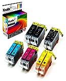 Koala 10 Druckerpatronen Kompatibel für Canon PGI-5 CLI-8 PGI5 CLI8 für Canon Pixma IP4200 IP4300 IP5200 IP4500 IP5200R IP5300 MP500 MP510 MP600 MP600R MP800 MP800R MP810 MP830 2*BK 2*PBK 2*C 2*M 2*Y