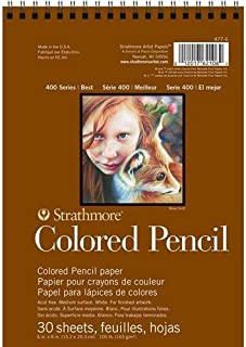 """Strathmore 400 Series Colored Pencil Pad, 6""""x8"""" Wire Bound, 30 Sheets"""