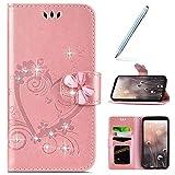 Robinsoni pour iPhone 6 Plus/6S Plus Coque,Luxe Glitter Strass Fleur Amour Motif...