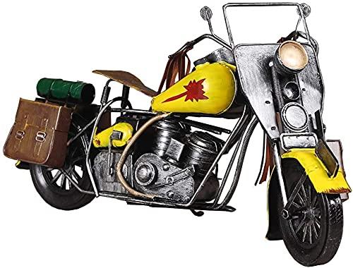 WQQLQX Statue Motorrad Statue Dekoration Eisenform Motorrad Skulptur Sammlung Grafik Home Wohnzimmer Büro Handwerk Dekoration Geschenk Skulpturen