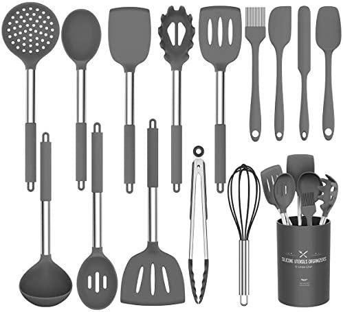 Silicone Cooking Utensil Set Umite Chef Kitchen Utensils 15pcs Cooking Utensils Set Non stick product image
