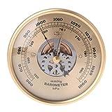 Baromètre, baromètre mural de 108 mm, thermomètre extérieur intérieur, hygromètre, il peut prédire avec précision le temps et peut être un outil de prévision météorologique familial multifonctionnel