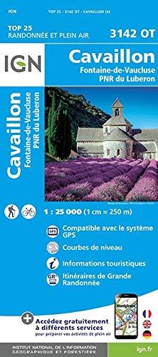 Cavaillon - Fontaine de Vaucluse - PNR du Luberon 1 : 25 000 (TOP 25)