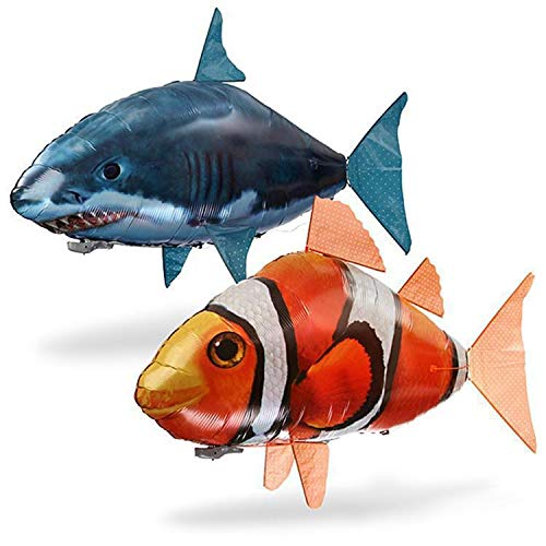 Remote Artifact Toy Plastic Opblaasbare Ballon Toy Controle Flying Fish Afstandsbediening Clownfish Flying Shark Toy Children's