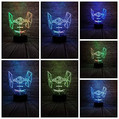 Giocattolo di pendenza del regalo dei bambini della camera da letto del ragazzo del personaggio dei giochi della luce LED di colore misto della luce notturna 3D