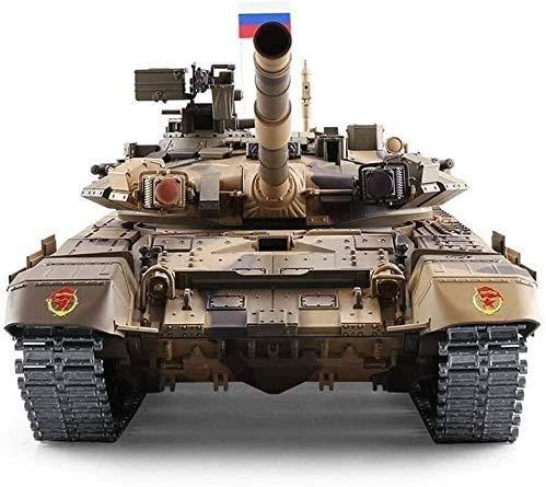 Mopoq RC T90 Panzer 2,4 GHz Fernbedienung 1/16 Skala Modell Spielzeug Metall Spur Controlled Behälter RC Fern Tank-Kind-Behälter in über Russisch Simulierte Ton Aktion for Kinder Erwachsene & Kinder G