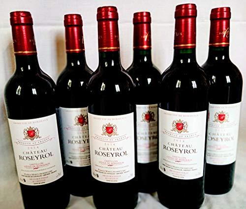 Vin rouge Castillon - Côtes de Bordeaux Château Roseyrol 2014 6 bouteilles