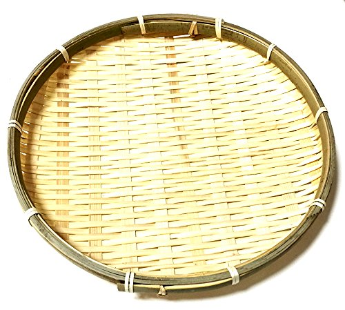 "Daiso Japan Bamboo Small Round Basket Dish Plate for Soba Udon Noodles 8.5"" x 1"""