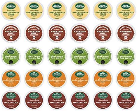 Popular Flavors Variety Pack Island Coconut Toasted Marshmallow Mocha Maple Pecan Cinnamon Sugar product image