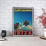 Ibiza Spain Cafe Mambo Poster, Ibiza Poster, Ibiza Art,