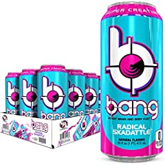 Bang energy drinks deliver a safe, sugar-free, carb-free, crash-free, great-tasting, sustained energy beverage experience. Studies suggest that the caffeine in Bang energy drinks increases mental focus, alertness, endurance and possibly even strength...