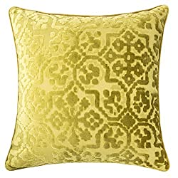 velvet pillow, chartreuse, throw pillow