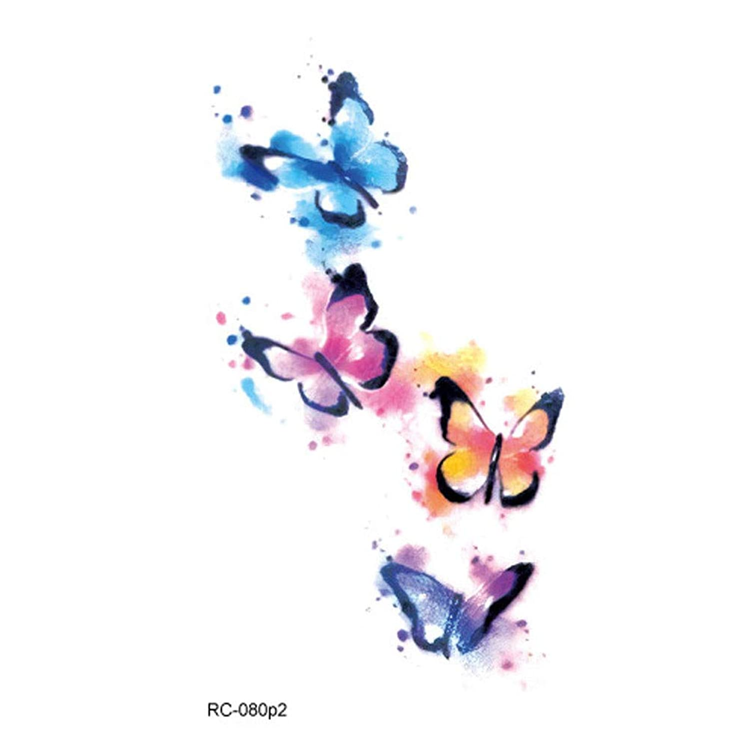 スクラップブック素晴らしい申し立てボコダダ(Vocodada)タトゥーシール 目立つ タトゥー用ステッカー ボディーアート タトゥー用品 刺青シール 長持ち 防水 腕、足、体、胸、肩、背中に簡単貼る 人体 女の子 動物 可愛い 矢印 動物 カラフル 狐 魚 アート ライオン 蝶 安全 一回性 環境保護 防水 使い捨て tattoos 105*60mm