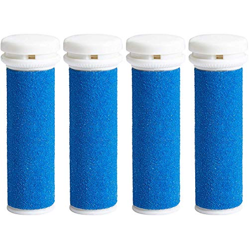 My Rollers™ Mineral Ersatzrollen (blau) für Emjoi Micro Pedi im 4er-Pack | Grob