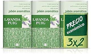 Agua Lavanda Puig - Jabón aromático - ingredientes 100% naturales - 125 g x 3 unidades