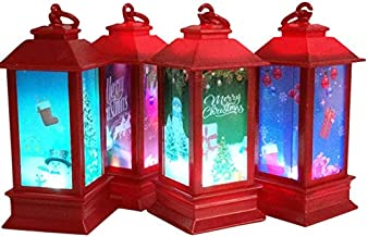 The Electric Mammoth Set of 4 LED Light Up Christmas Lantern Candle Decorations