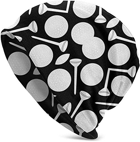 Golfballen en T-stukken zwart-wit stof dames winterbreien Slouchy beanie muts warme schedel cap hoed voor mannen