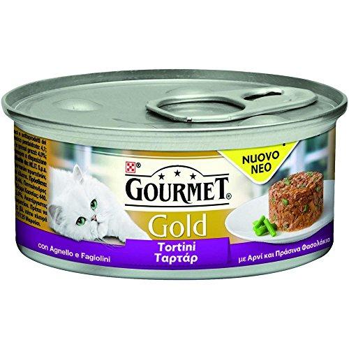 PURINA Gourmet Or Agneau Galettes haricots GR. 85 Pâtés pour chats