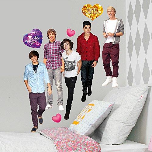 ONE DIRECTION - Décoration murale - Stickers de Harry, Liam, Louis, Niall et Zayn (170 x 70 cm)