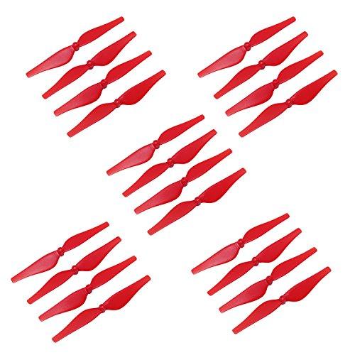 Anbee 5 Sets Tello Hélices Props Lames Combo Accessoire d'hélice léger et Puissant pour Le Drone Tello (Rouge)