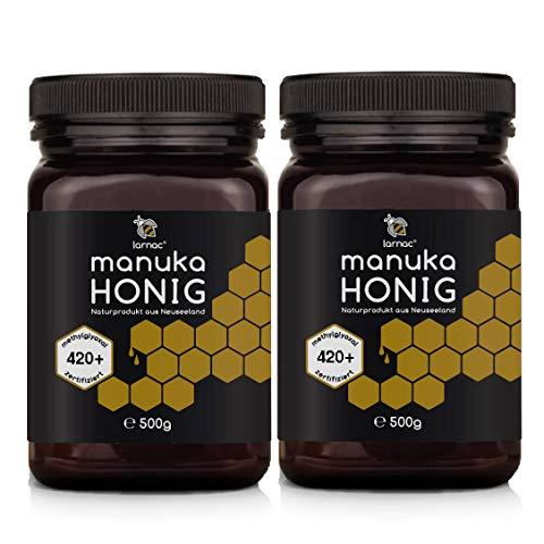 Larnac Manuka Honig MGO 420+ aus Neuseeland, 2x500g, Methylglyoxal zertifiziert