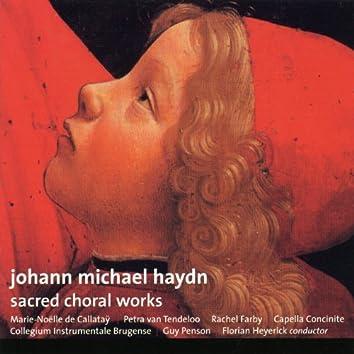 Johann Michael Haydn, Sacred choral works