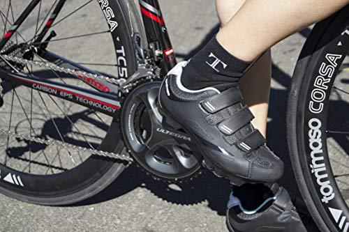 Tommaso Terra 100 Women's Mountain Biking, Spin, Indoor Cycling, Road Cycling SPD Compatible Shoe - Black/Teal - 41