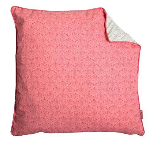 A.U Maison - Kissen mit Füllung, pink / türkis, 50x50 cm