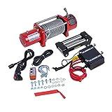 Treuil Électrique 12 V 13000lbs(5909KG), Treuil de levage automatique avec télécommande du système de contrôle, accessoires de voiture, rouge