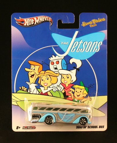 SURFIN\' SCHOOL BUS * THE JETSONS * Hanna-Barbera Presents Hot Wheels 2011 Nostalgia Series 1:64 Scale Die-Cast Vehicle by Hot Wheels