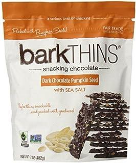 BarkTHINS Snacking Dark Chocolate (4.7 oz) (Pumpkin Seed with Sea Salt) (pack of 3)