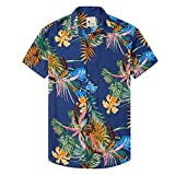 Damipow Hawaiian Shirts for Men Short Sleeve...