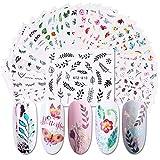 XUBX 29 Hojas Arte de uñas pegatinas, de arte de uñas mixtas, de Calcomanías...
